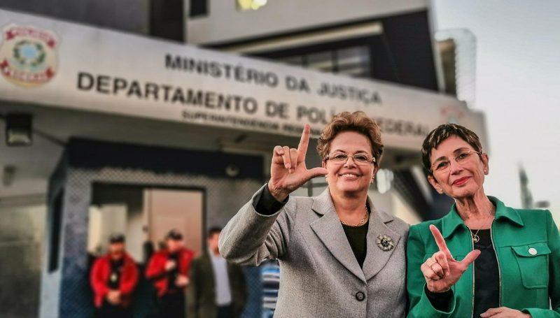"""Dilma e Pilar Del Rio, após visita a Lula: """"Foi comovente"""";  assista à íntegra da entrevista"""