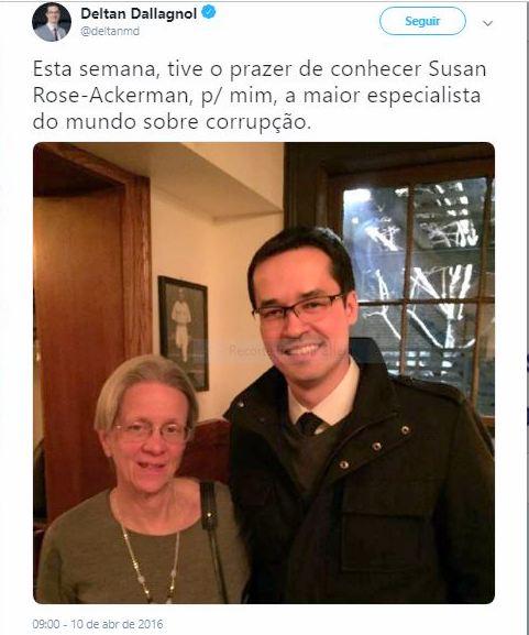Tânia de Oliveira: Dallagnol tem razão, é preciso ler Susan Ackerman, a maior especialista mundial em corrupção