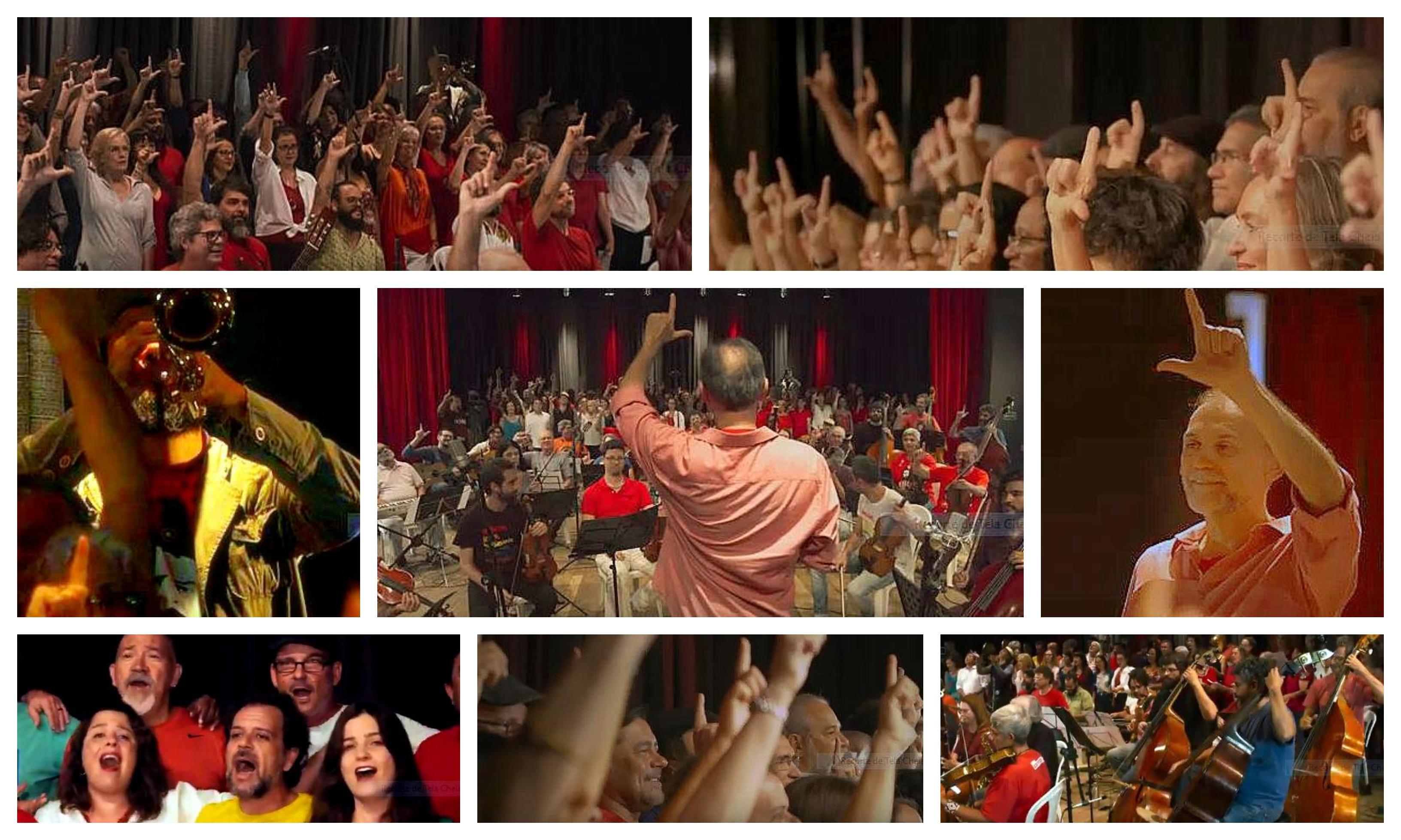 Por Lula livre, dois símbolos da resistência se juntam a artistas de Brasília; vídeo