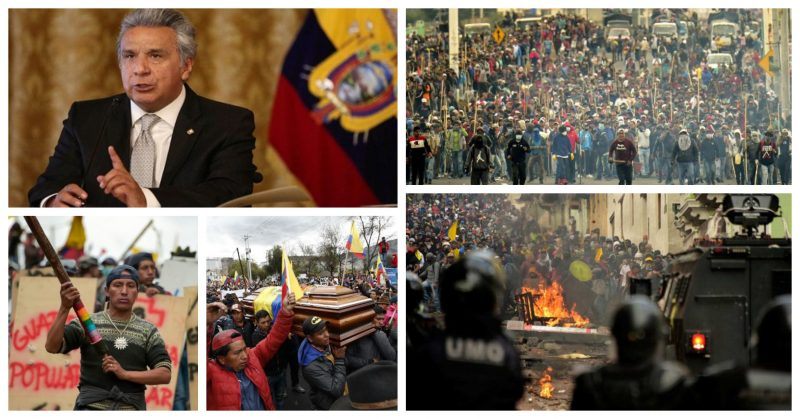Brasileiros assinam carta aberta ao governo Lenin Moreno em defesa do povo equatoriano; íntegra