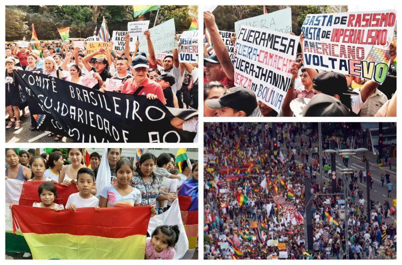 Golpe na Bolívia: Brasileiros e bolivianos se unem em protesto na Paulista; vídeos e fotos