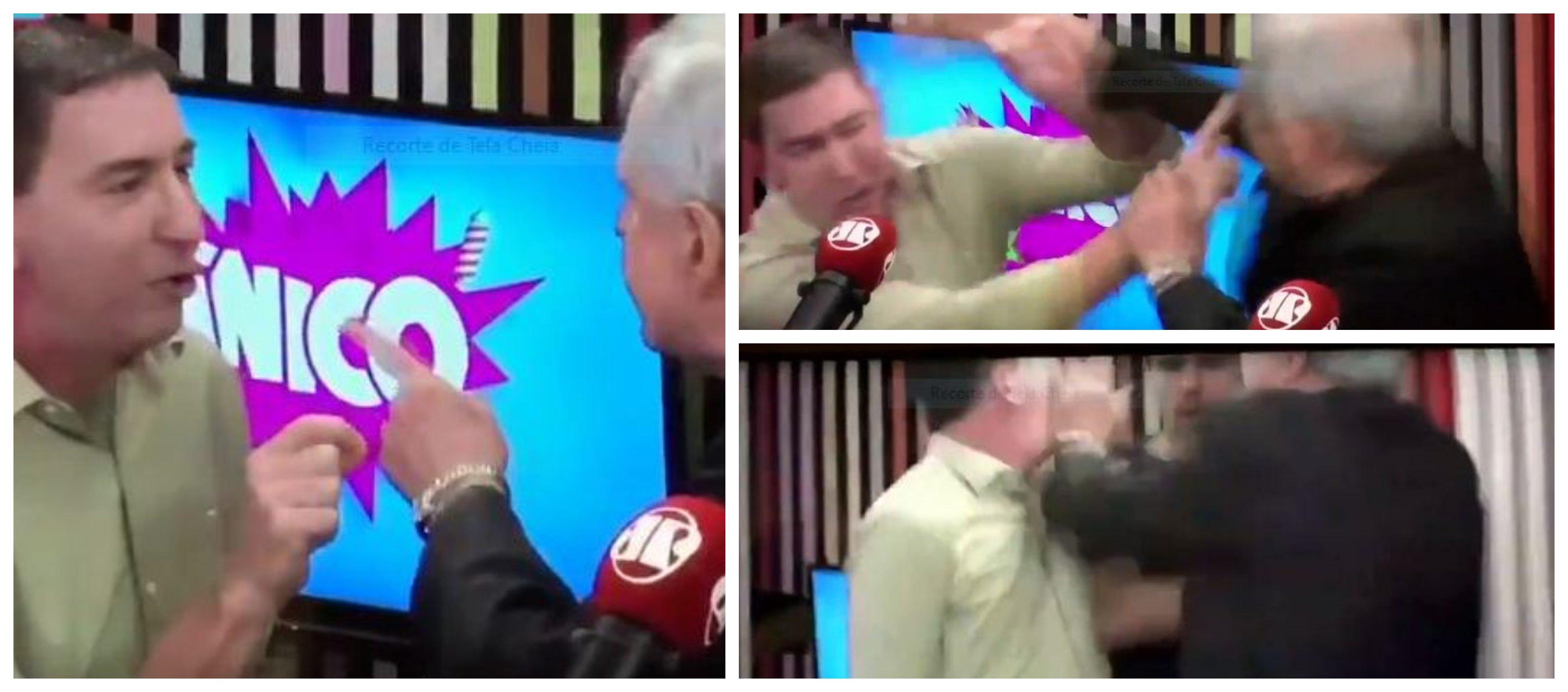 Augusto Nunes agride Glenn Greenwald, desonra a profissão por vassalagem à Lava Jato; solidariedades e nota da Jovem Pan