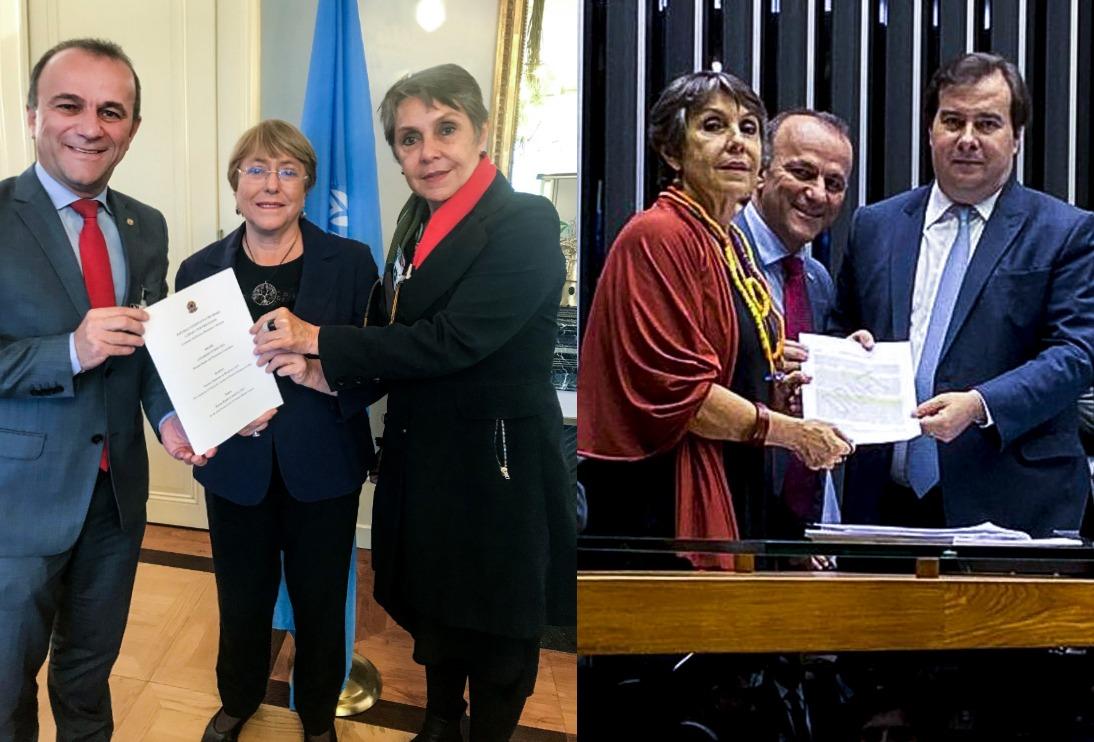 ONU e CDHM juntas pelos direitos humanos no Brasil; proposta entregue a Bachelet por Maia