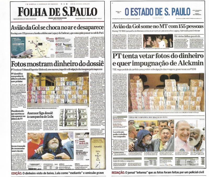 """Caso Dossiê: """"Essa aqui é a foto da Globo, que eles colocaram todo o dinheiro, só o dinheiro, e pronto"""""""