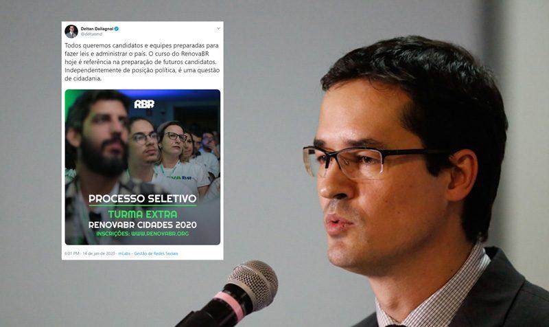 Pimenta e Correia escracham Dallagnol por fazer propaganda de curso privado: Mais um crime!