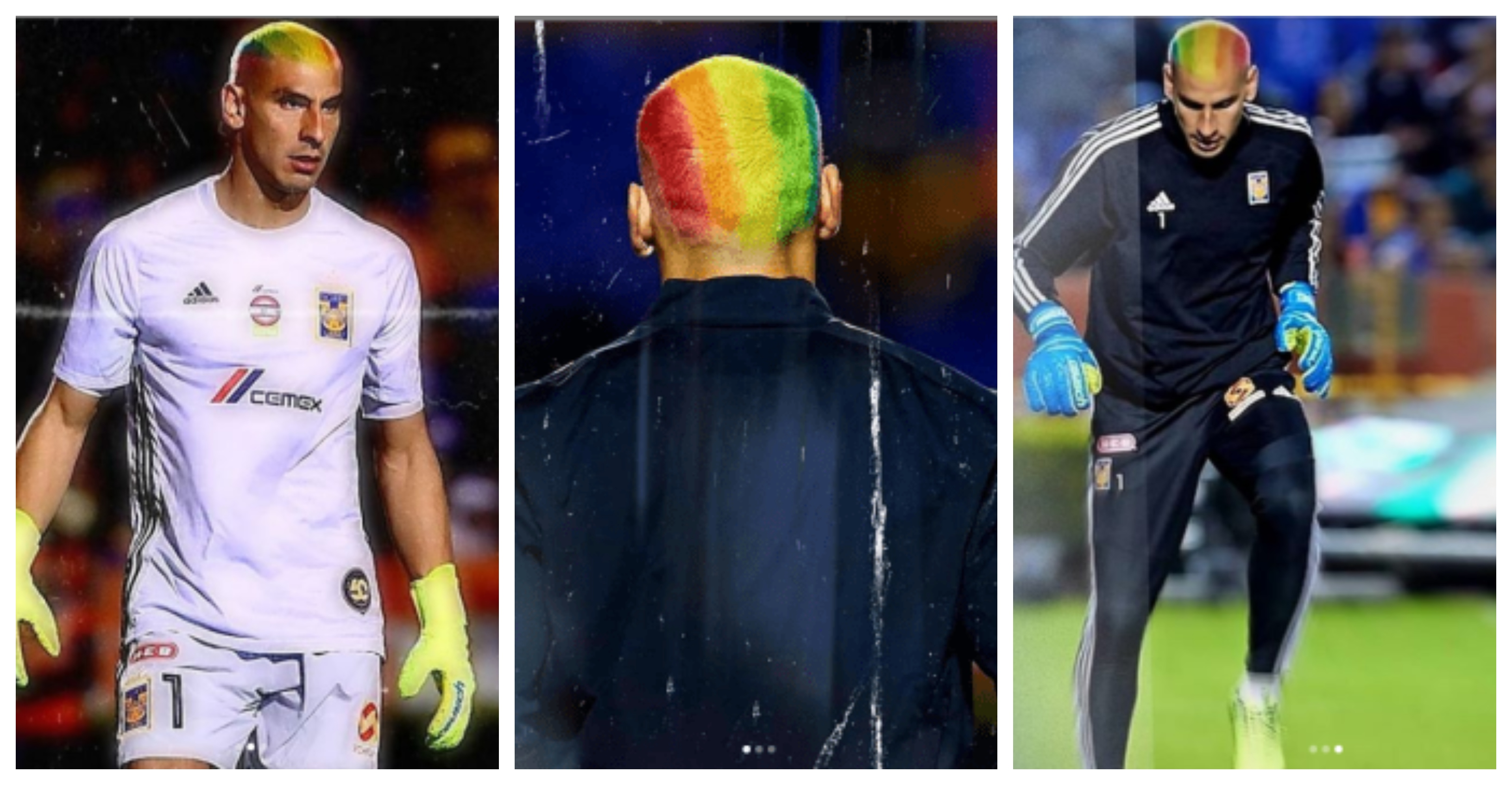Rogério Tomaz: Goleiro da Argentina tinge cabelo com cores da bandeira do movimento LGBT