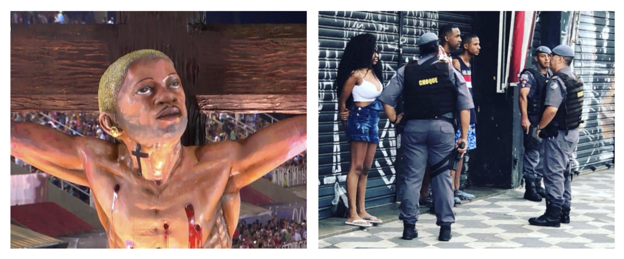 """Cristo funkeiro da Mangueira demole bolsonarismo, mas Globo passa batido pelo """"Messias de arma na mão"""""""