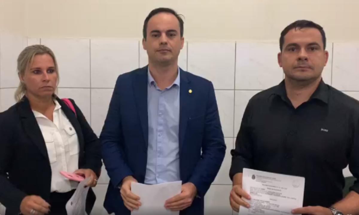 Candidato a prefeito de Fortaleza, deputado Capitão Wagner foi a Sobral com colegas bolsonaristas para acusar Cid