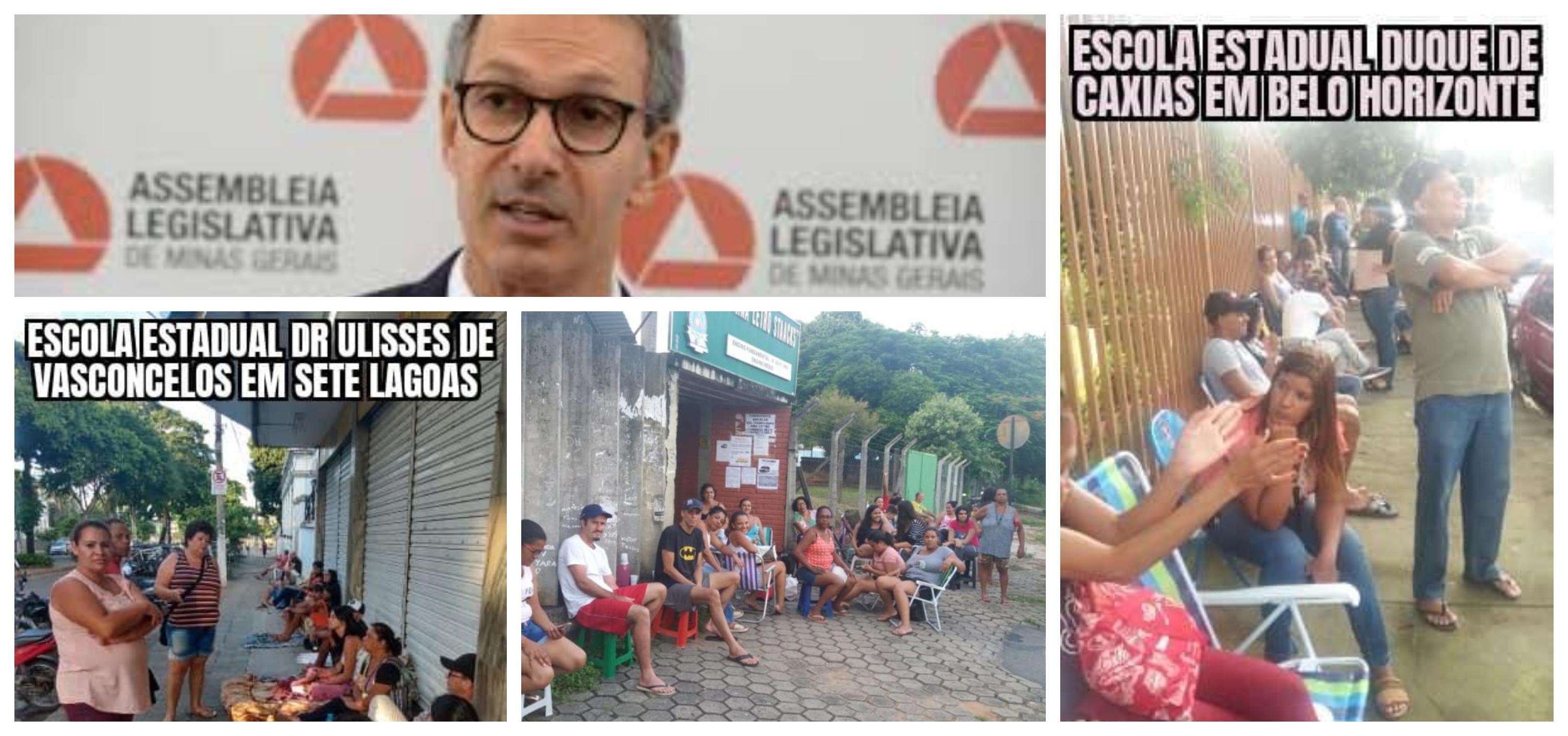 """Beatriz Cerqueira: """"Novo"""" sistema de matrículas de Zema faz pais acamparem na porta das escolas por uma vaga"""