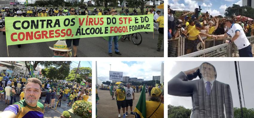 manifestações contra o isolamento social
