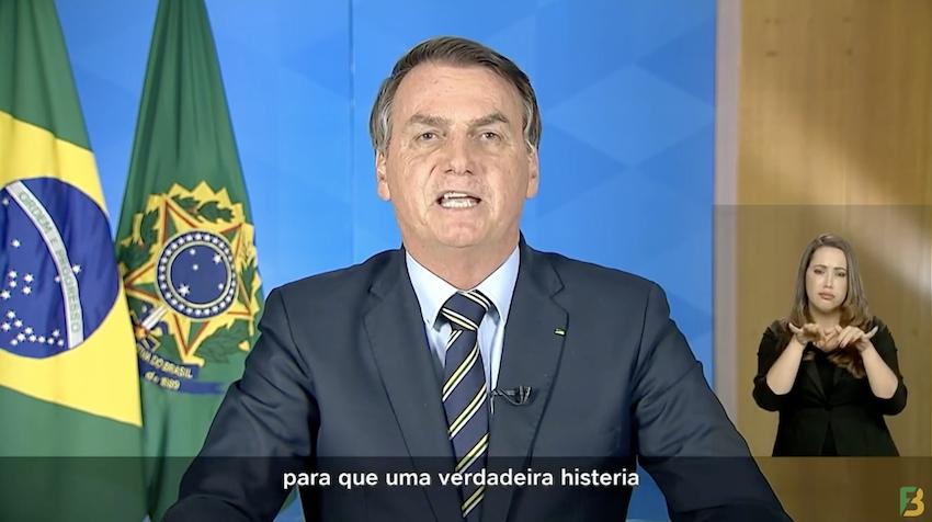 Fala de Bolsonaro em rede nacional faz oposição falar em impeachment já