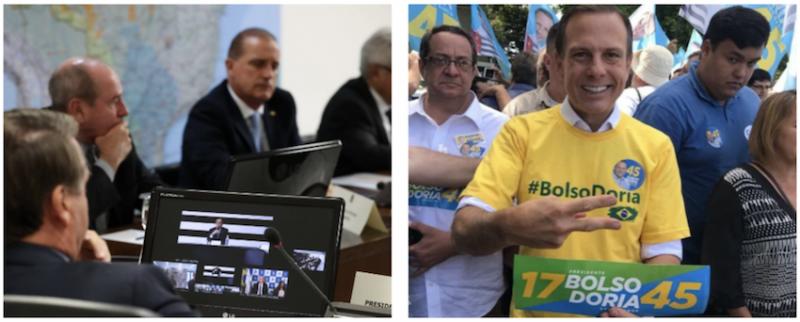 """Doria diz que não aceitará confisco e Bolsonaro rebate que paulista """"se apoderou do seu nome"""" nas eleições; vídeo"""