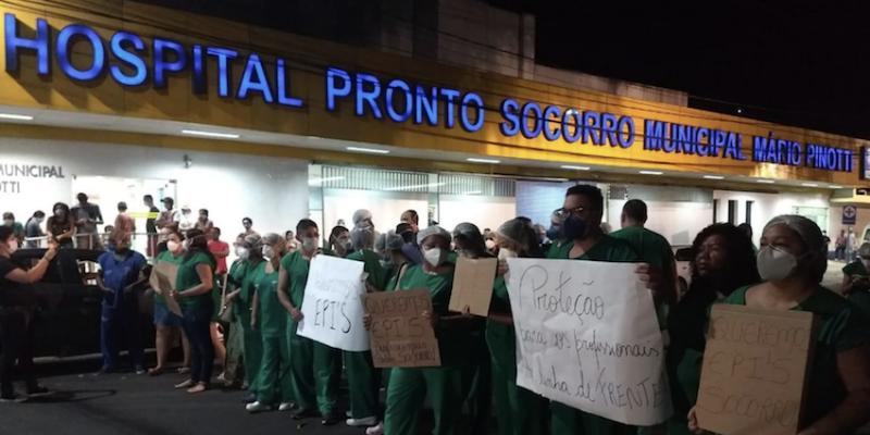 """Sindicalista descreve caos em Belém: mistura de pacientes, falta de proteção para médicos e enfermeiros e """"hospital de fachada"""""""