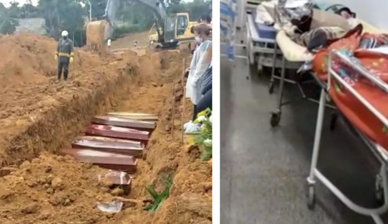 Hospitais rejeitam pacientes, prefeitura adota enterro em trincheiras em Manaus e conselheiro da Saúde teme pandemia fora do radar no interior do Amazonas; vídeos