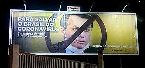 """Após ameaças de bolsonaristas, outodoor do Sindicato dos Petroleiros é retirado: """"Ataque à nossa liberdade de expressão"""""""