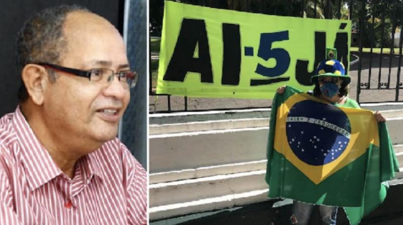 "Sindicato dos Jornalistas de Mato Grosso denuncia censura a crítico de bolsonarista que pediu ""AI-5 já"""