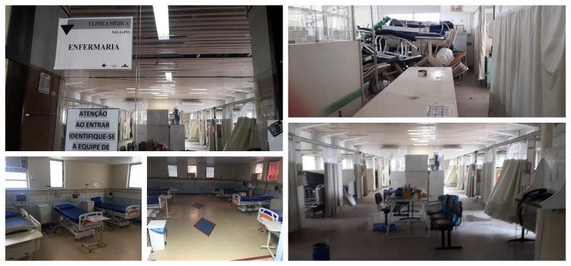 Atendendo a Bolsonaro, Sindicato dos Médicos levanta situação dos hospitais federais no Rio Janeiro: Chega de bravatas!; fotos