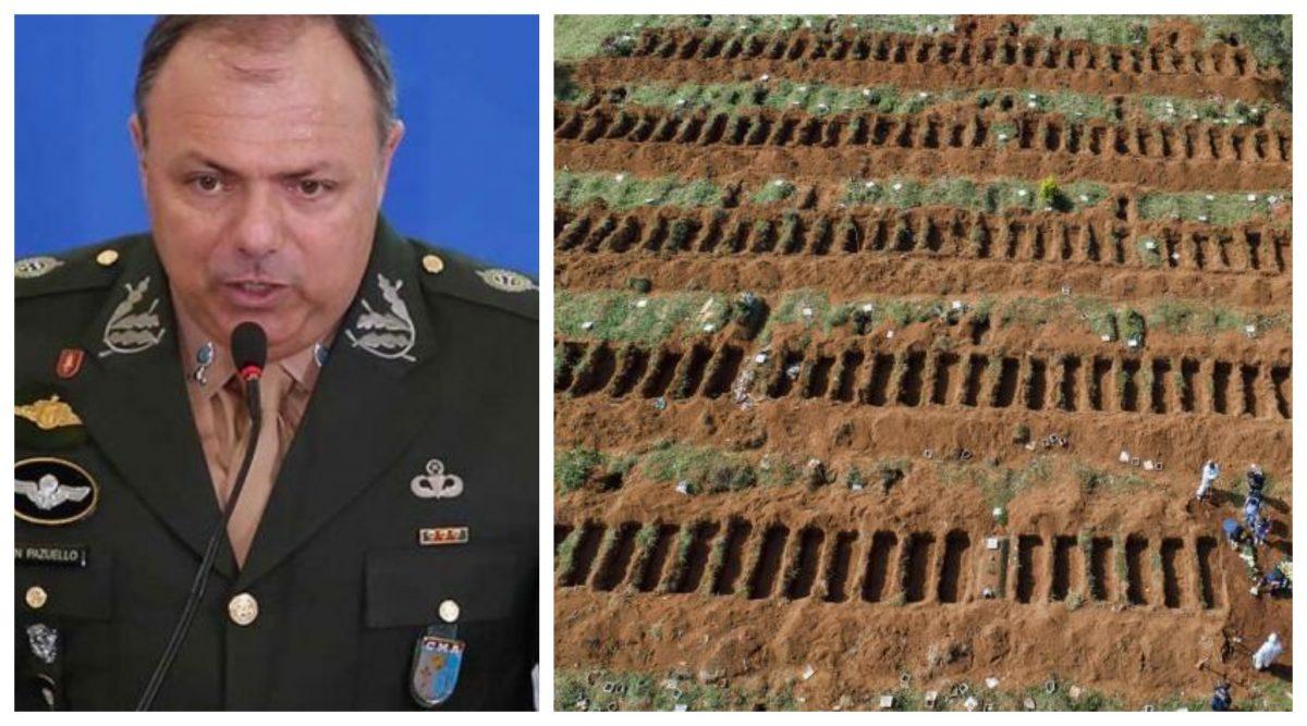 Paulo Pimenta denuncia: Na gestão do general Pazuello, casos de covid explodiram; os confirmados saltaram oito vezes e as mortes, cinco
