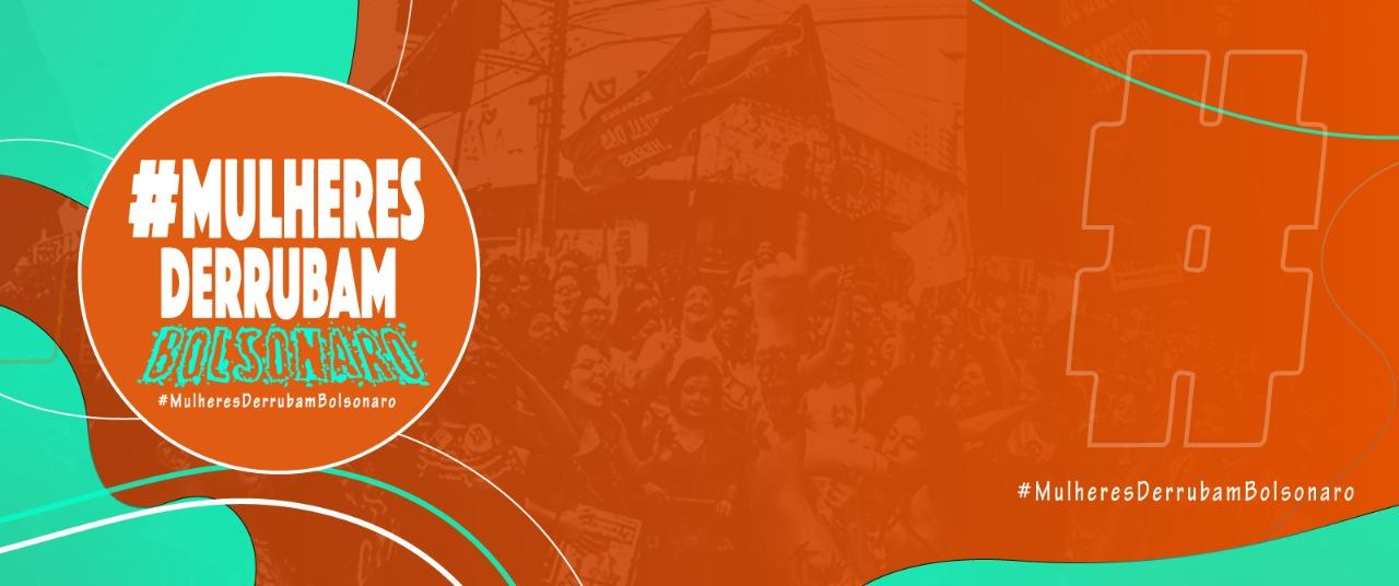 """Neste domingo, às 14h, junte-se ao levante das mulheres do Brasil inteiro:  """"Ele cai"""""""
