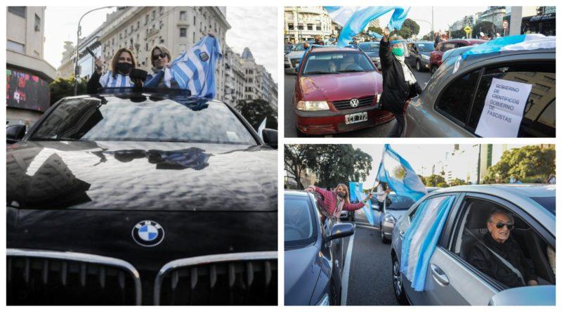 Na Argentina, oposição faz marcha em BMW contra a quarentena e ataca jornalistas