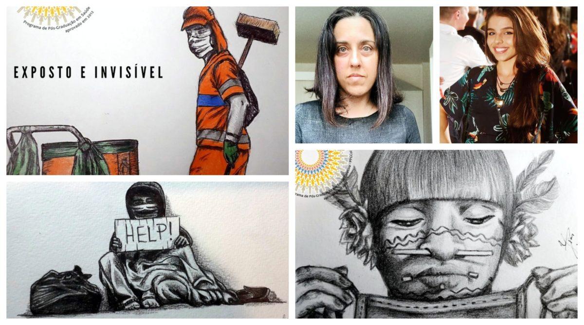 Grupo da Universidade Federal do Rio Grande do Sul enfrenta a covid com arte e retrata os invisíveis da pandemia; cards e vídeos