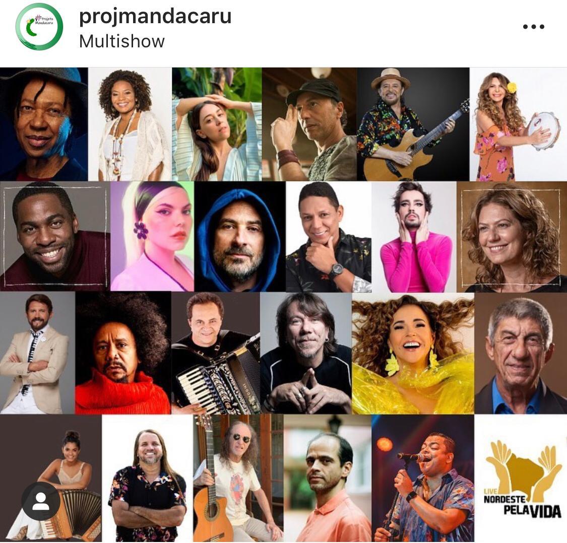 Neste domingo, live Nordeste pela Vida reúne grandes artistas no combate à covid-19; veja quem vai