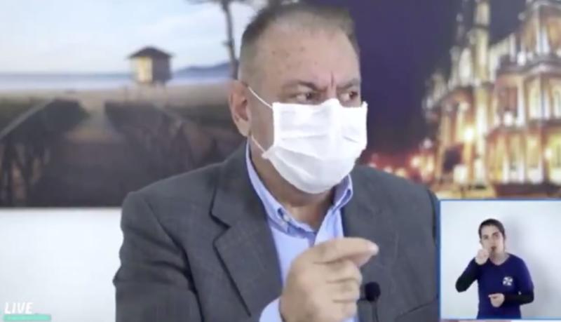 Com taxa de isolamento de apenas 50%, prefeito propõe ozônio via anal em moradores de Itajaí