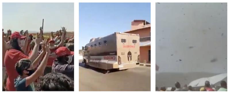 Zema autoriza helicóptero e caveirão contra Quilombo Campo Grande, que resiste com orações; vídeos