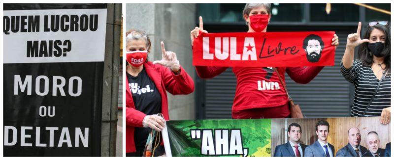 Ativistas dão adeus a Dallagnol: Basta de mentiras e crimes da Lava Jato!; fotos de Eduardo Matysiak