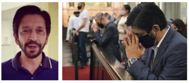 Temendo virada, Covas fala em Cuba, Venezuela e ataca imprensa por questioná-lo sobre vice acusado de bater na mulher