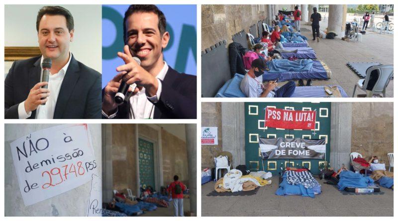 Greve de fome de professores completa 100 horas: Ratinho Júnior menospreza educação; oposição denuncia laboratório bolsonarista; vídeos
