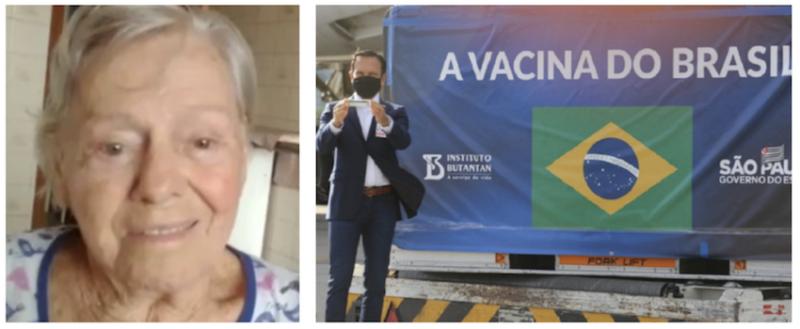 """R7: Mãe de Jair Bolsonaro tomou a """"vachina"""" comunista de João Doria"""