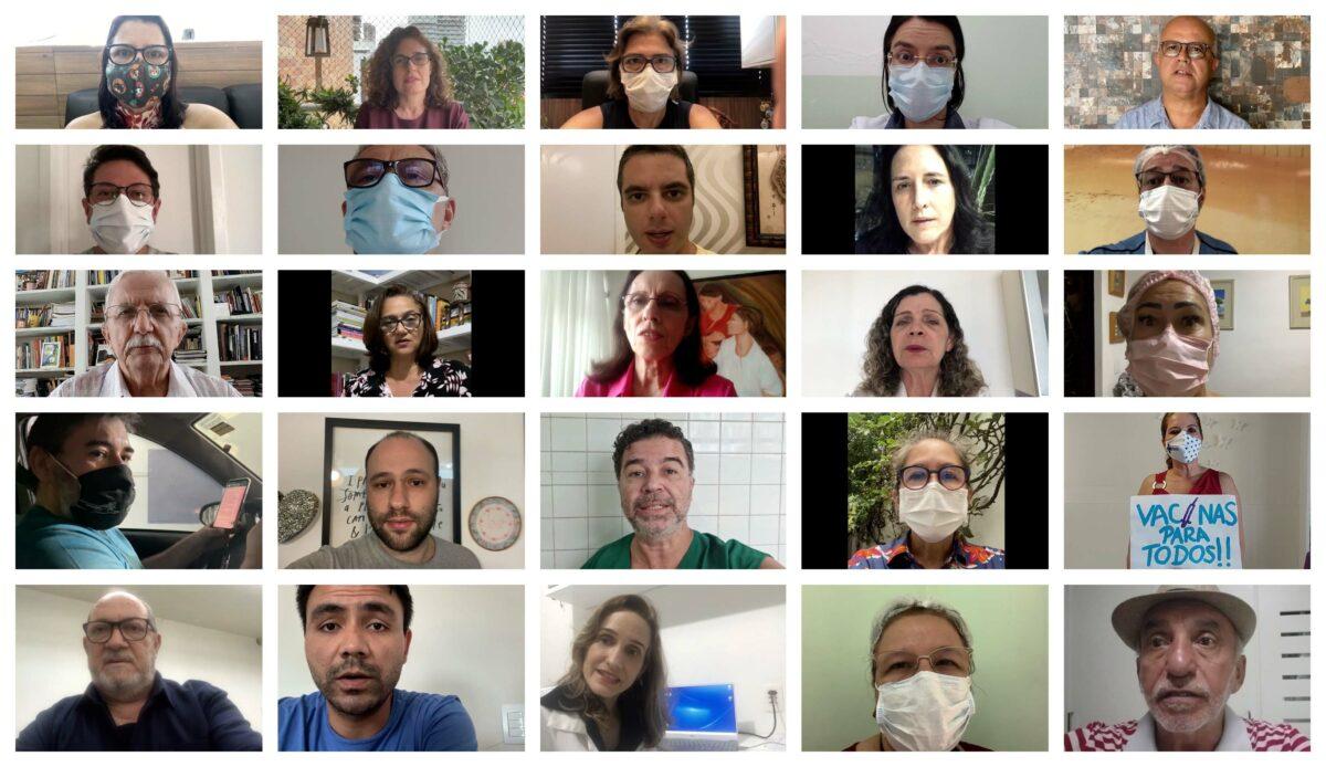 Médicos cearenses dizem 'não' à visita de Bolsonaro ao Estado e cobram: Cadê a vacina? E o auxílio emergencial?; vídeo e nota