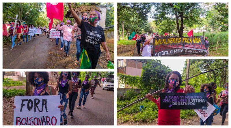 Mulheres sem terra ocupam BR 116 e exigem abertura de hospital regional