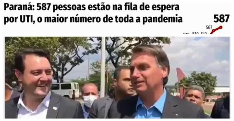 Covid no Paraná: Média diária de mortes quase quadruplica; 175, só nas últimas 24h;  sindicatos defendem lockdown