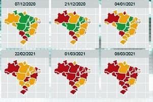 Fiocruz alerta: Muito grave a taxa de ocupação dos leitos de UTI covid no Brasil; em 25 capitais, está acima de 80%