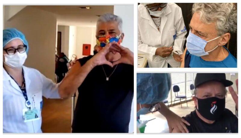 Vacinados: Chicos Buarque e Pinheiro aplaudem o SUS; Lulu Santos canta e enaltece os seus profissionais