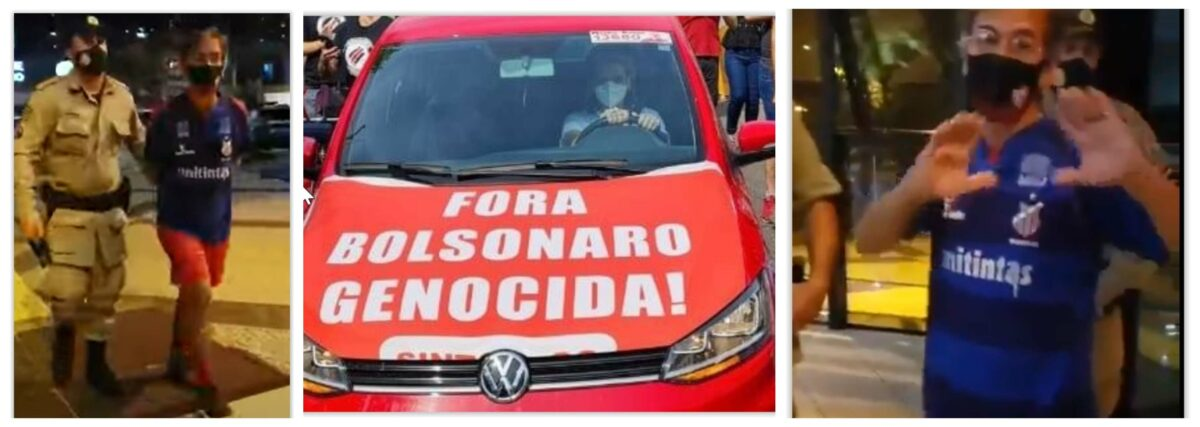 """Libertação de dirigente do PT, preso por """"Bolsonaro genocida"""", se tornou manifestação contra Bolsonaro genocida"""