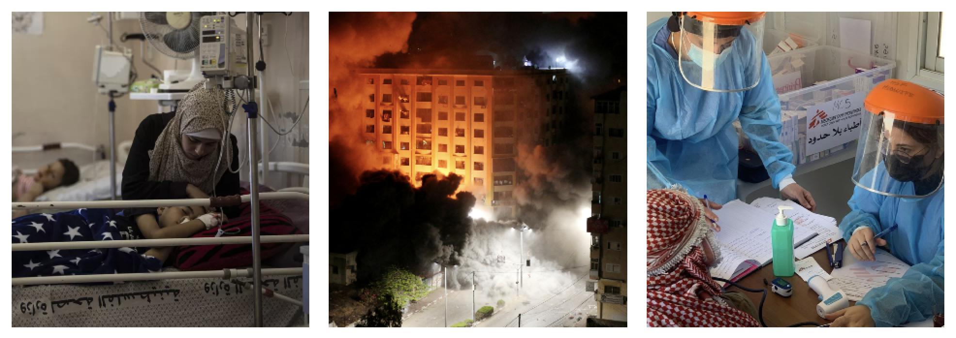 Gaza lida com bloqueio de Israel, feridos e covid ao mesmo tempo