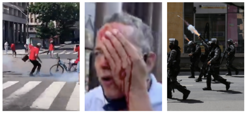 PM de Pernambuco faz terrorismo com bombas e balas de borracha contra manifestantes pacíficos; vídeos