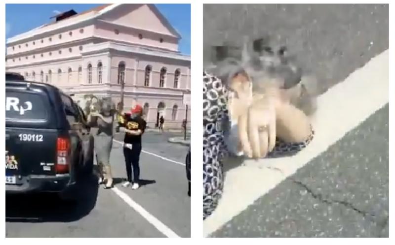 Vereadora do PT tenta diálogo, é atingida por gás de pimenta e cai numa avenida do Recife; vídeos