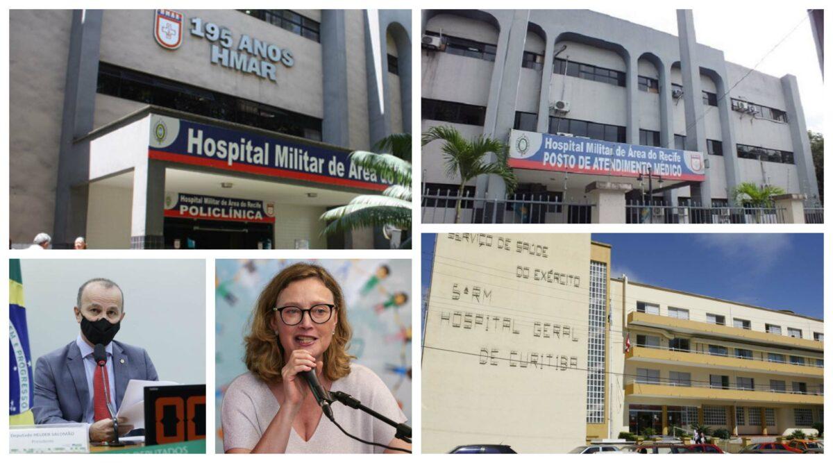 Câmara vota hoje liberação de leitos vagos de hospitais militares para civis com covid; 85% estão livres