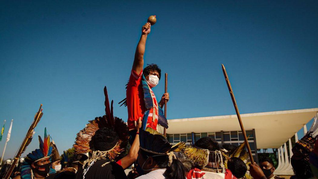 """STF adia julgamento decisivo  para o futuro dos povos indígenas: """"Agosto tem que ser o mês da luta"""", afirma Kretã Kaingang; vídeo"""