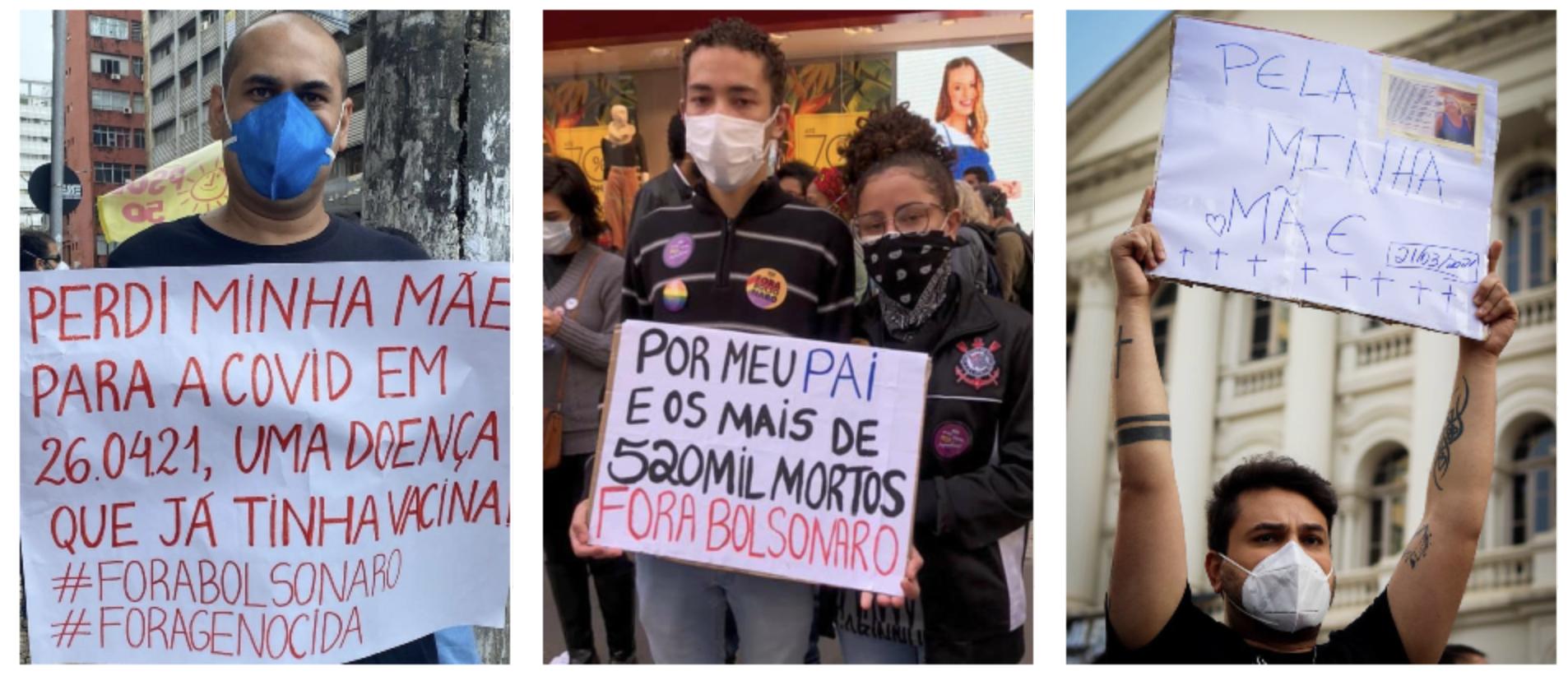 Sob chuva, manifestantes fazem emocionante homenagem às vitimas de Bolsonaro em João Pessoa, o que se repetiu por todo o Brasil; vídeo e fotos