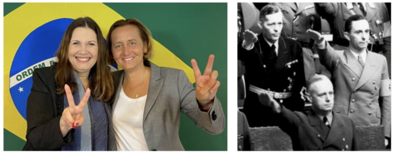 Gleisi lamenta encontro de bolsonaristas com parlamentar alemã neta de nazista: Xenofobia, discurso de ódio e postura antidemocrática