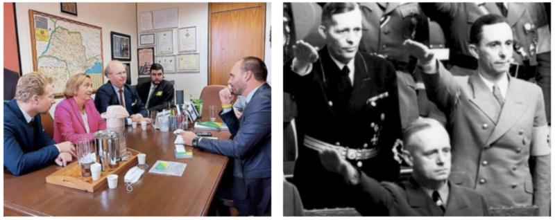 Jornal argentino anuncia aliança de Eduardo Bolsonaro com neta de ministro de Hitler, condenado em Nuremberg por roubar judeus