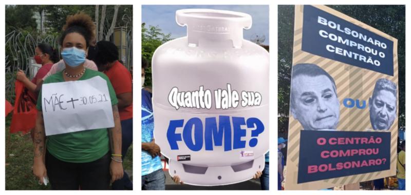 Nas ruas, brasileiros levantam as questões do momento: luto, fome e abraço entre Bolsonaro e o Centrão — quem comprou quem?