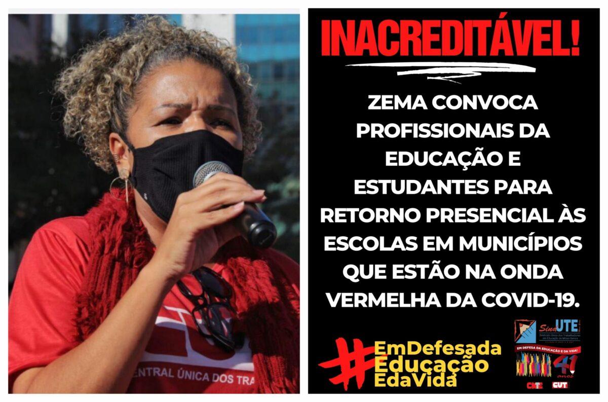 """Sind-UTE/MG aprova greve sanitária onde houver convocação para aula presencial: """"Em defesa da vida"""", frisa Denise Romano;  vídeo"""