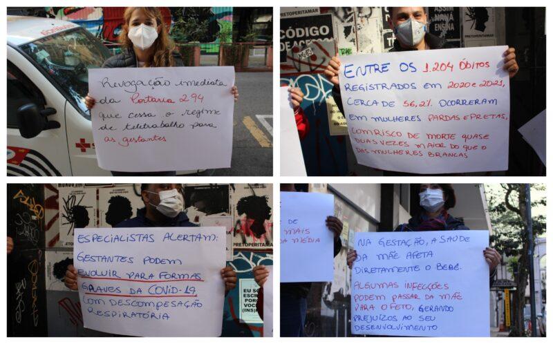Sindicato rechaça volta ao trabalho presencial de grávidas e puérperas em SP: É baixa a taxa de vacinadas; vídeos