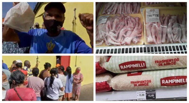 Pobres disputam ossos e fragmentos de arroz para matar a fome no Brasil governado por Bolsonaro